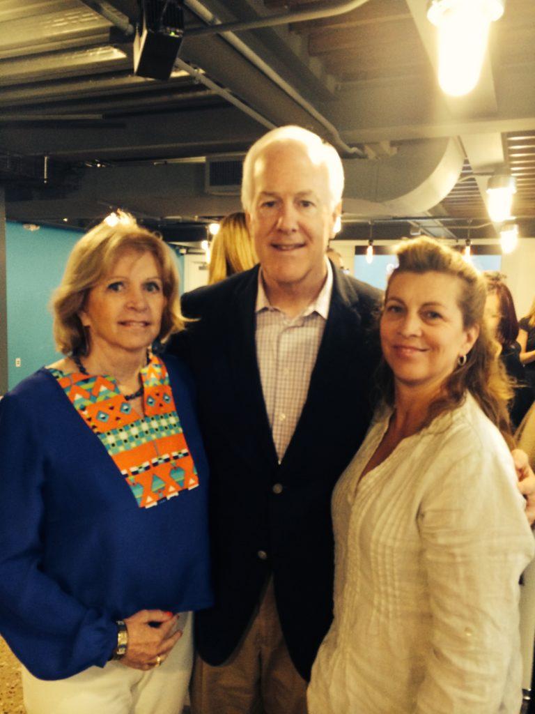 Diane & Michele with Senator John Cornyn